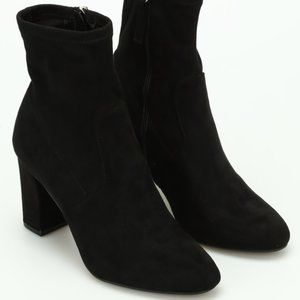 Steve Madden Faux Suede Black Ankle Booties